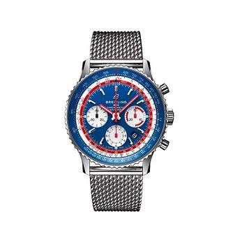 Breitling Navitimer 1 Pan Am Men's Mesh Bracelet Watch - Product number 2465426