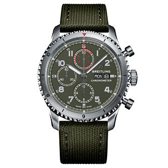 Breitling Aviator 8 Curtiss Warhawk Green Strap Watch - Product number 2465531