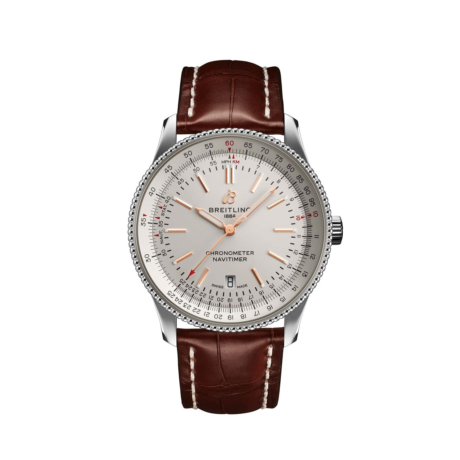 Breitling Navitimer Men's Brown Leather Strap Watch - Product number 2465582