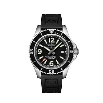 Breitling Superocean 42 Men's Black Rubber Strap Watch - Product number 2465752