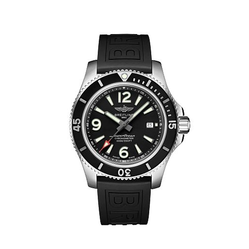 Breitling Superocean 44 Men's Black Rubber Strap Watch - Product number 2465914