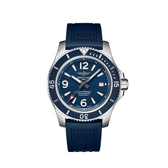 Breitling Superocean 44 Men's Blue Rubber Strap Watch - Product number 2465930