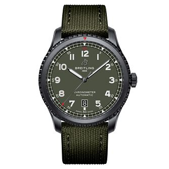 Breitling Aviator 8 Curtiss Warhawk Green Strap Watch - Product number 2465981