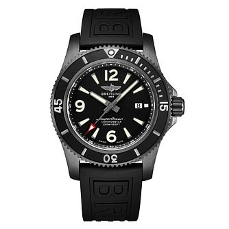 Breitling Superocean 46 Men's Black Rubber Strap Watch - Product number 2466007