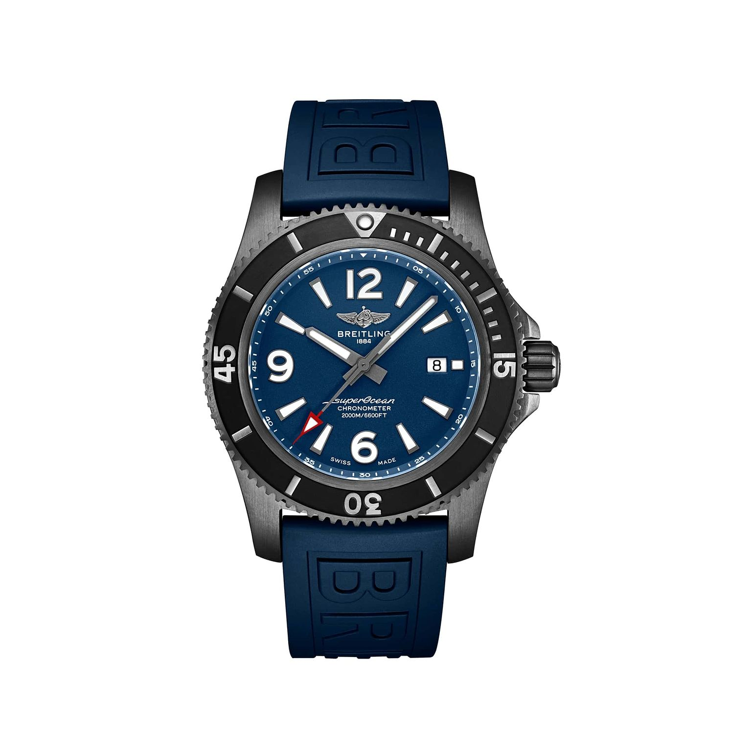 Breitling Superocean 46 Men's Blue Rubber Strap Watch - Product number 2466015