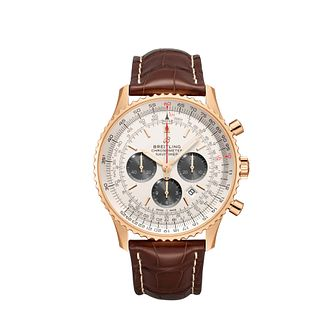 Breitling Navitimer 01 Men's Brown Leather Strap Watch - Product number 2466031