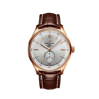 Breitling Premier Automatic Men's 18ct Rose Gold Strap Watch - Product number 2466066