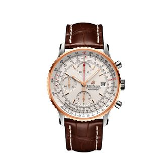 Breitling Navitimer 41 Men's Brown Leather Strap Watch - Product number 2466074