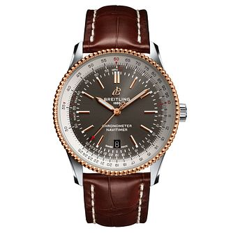 Breitling Navitimer 1 Men's Brown Leather Strap Watch - Product number 2466082