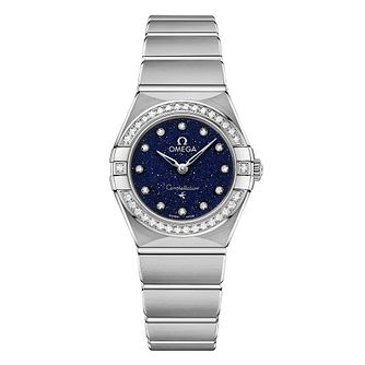 Omega Constellation Diamonds Stainless Steel Bracelet Watch - Product number 2467151