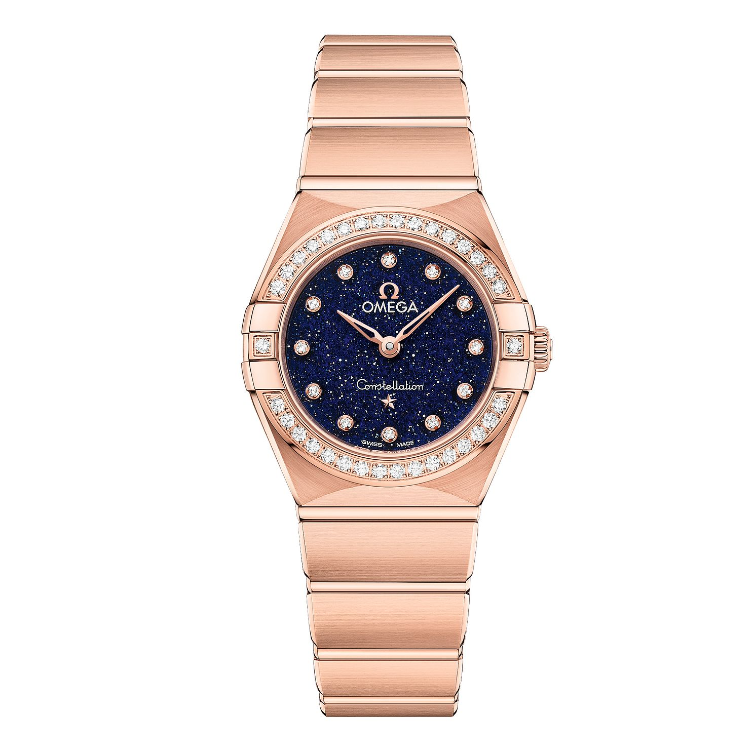 Omega Constellation Diamonds 18ct Rose Gold Bracelet Watch - Product number 2467232