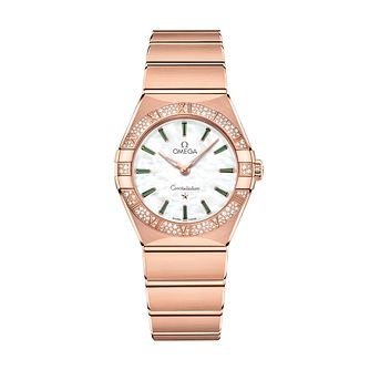Omega Constellation Manhattan 18ct Rose Gold Bracelet Watch - Product number 2467259