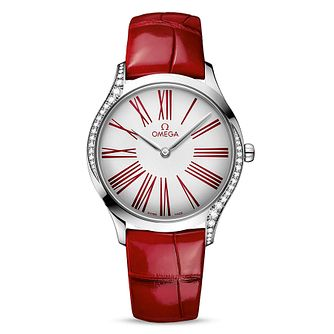 Omega De Ville Trésor Ladies' Red Leather Strap Watch - Product number 2467267