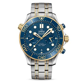 Omega Seamaster Chronograph Men's Two Tone Bracelet Watch - Product number 2467437