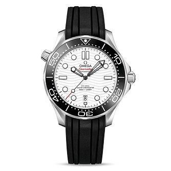 Omega Seamaster Diver Men's Black Rubber Strap Watch - Product number 2467674