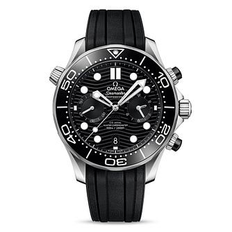 Omega Seamaster Chronograph Men's Black Rubber Strap Watch - Product number 2467682