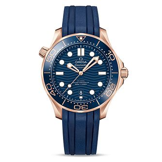 Omega Seamaster Diver Men's Blue Rubber Strap Watch - Product number 2467690