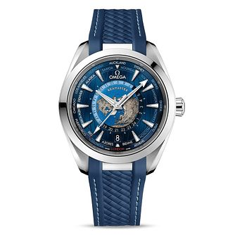 Omega Aqua Terra Men's Blue Rubber Strap Watch - Product number 2467739