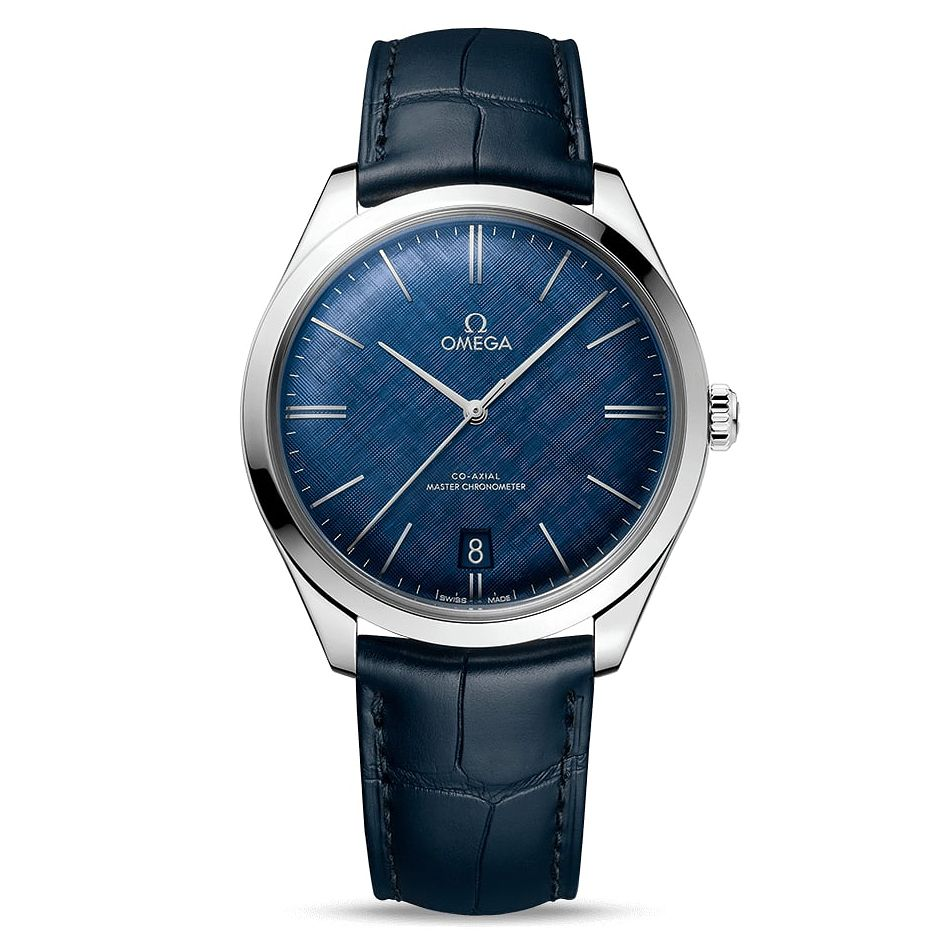 Omega De Ville Tresor Men's Blue Leather Strap Watch - Product number 2467844