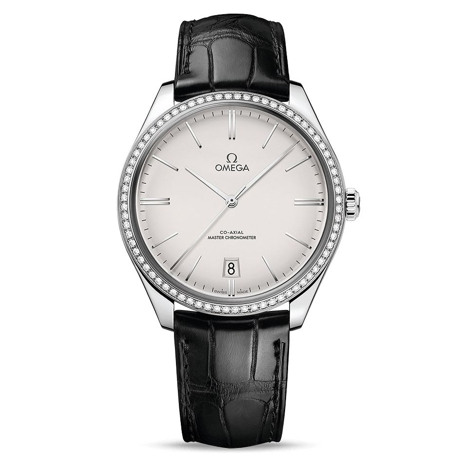 Omega De Ville Tresor Men's Black Leather Strap Watch - Product number 2467852