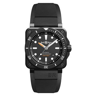 Bell & Ross Diver Black Matte Men's Black Rubber Strap Watch - Product number 2468506