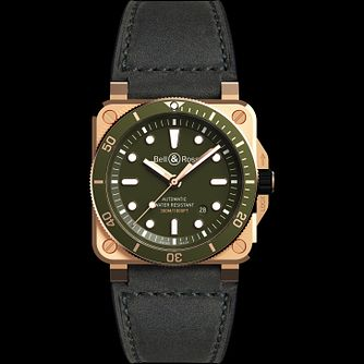 Bell & Ross Ltd Edition Bronze 03 Diver  Leather Strap Watch - Product number 2468530