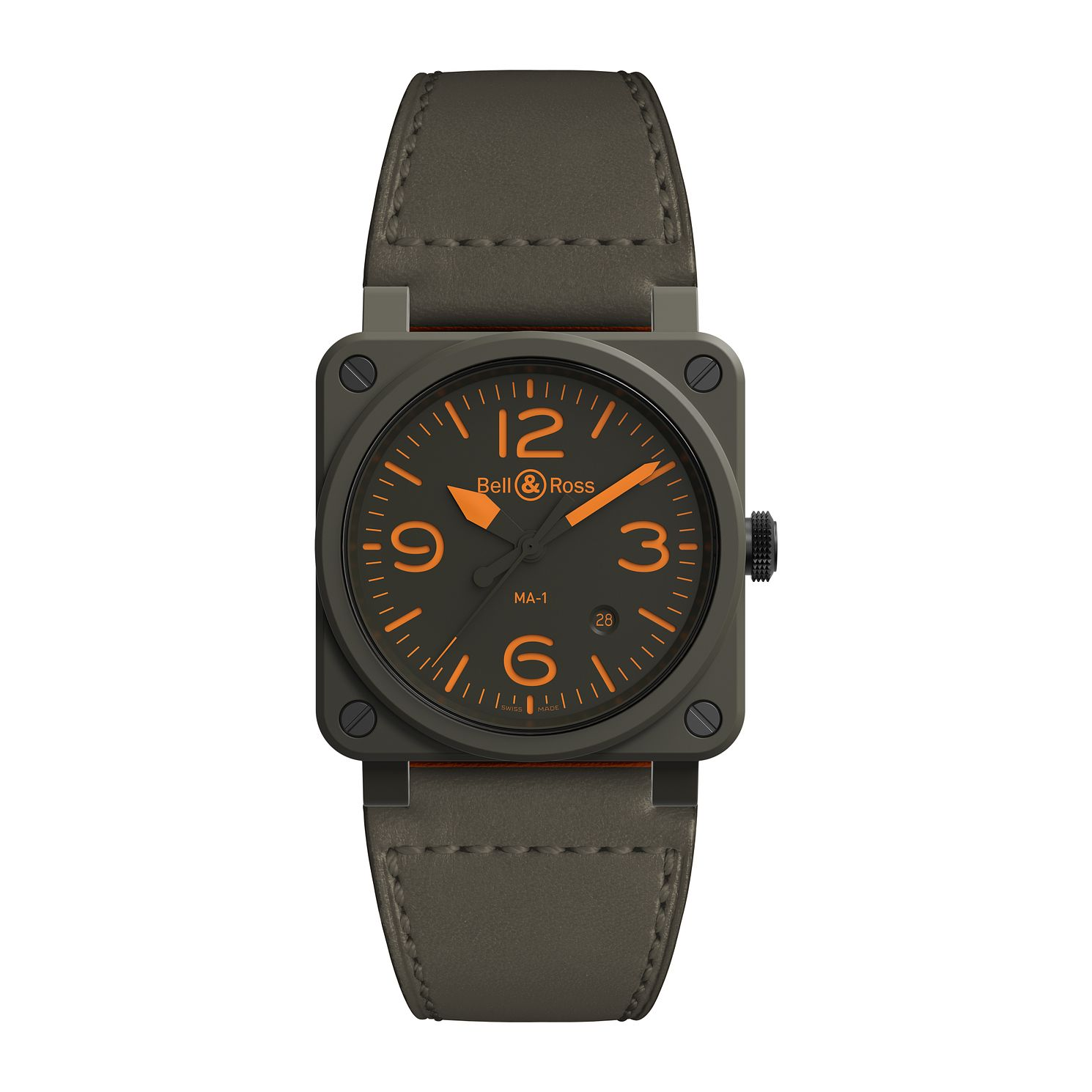 Bell & Ross Limited Edition Reversible Leather Strap Watch - Product number 2468557