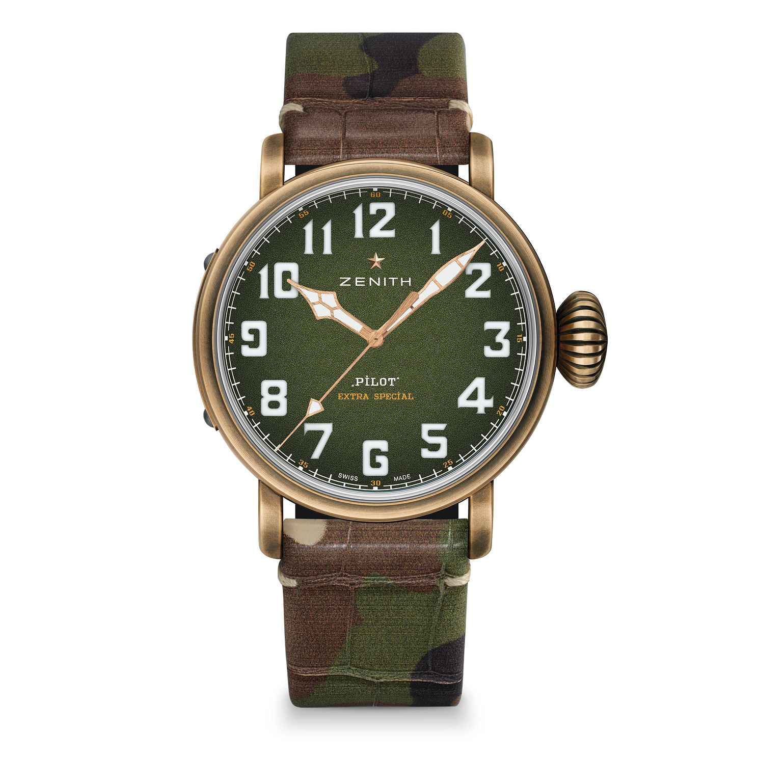 Zenith Pilot Type 20 Adventure Green Leather Strap Watch - Product number 2469138