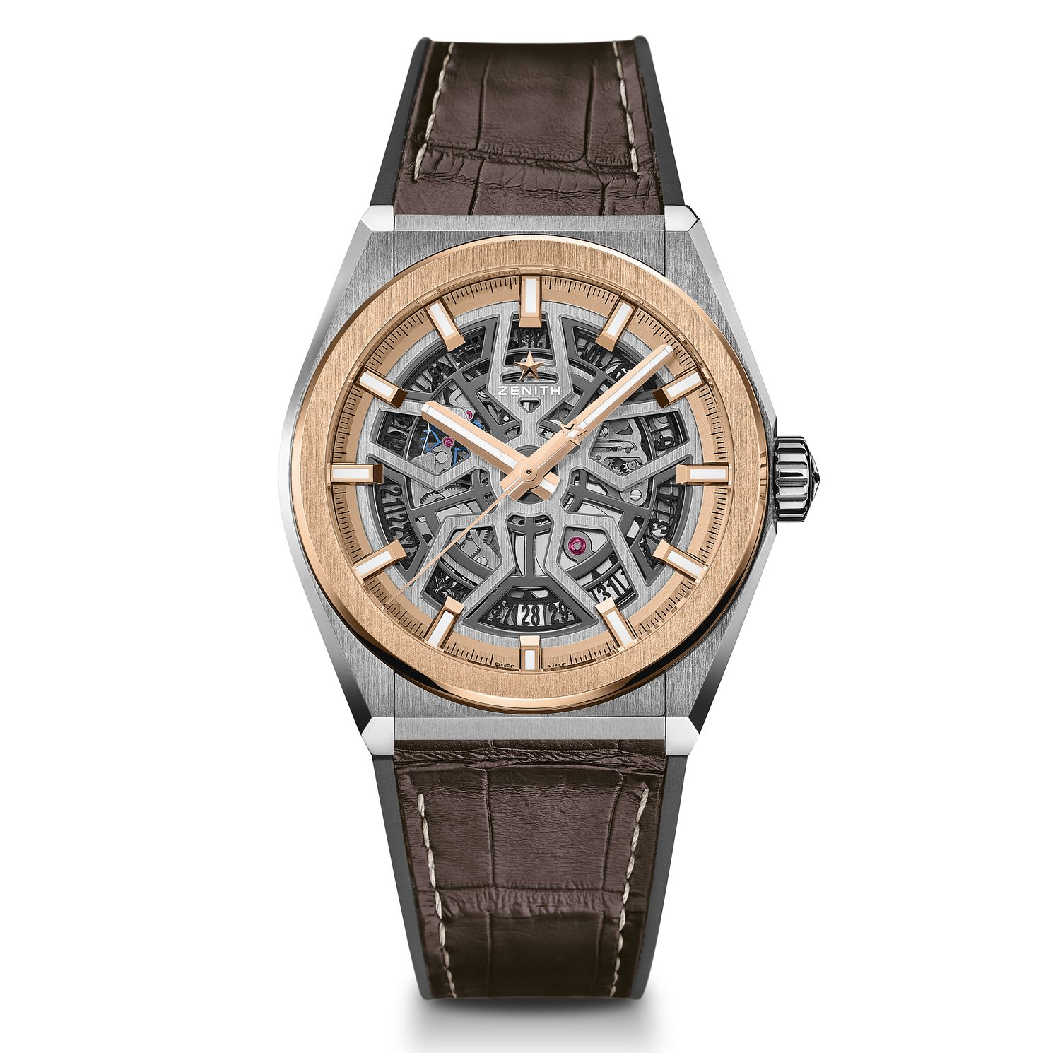 Zenith Defy Classic Men's Brown Leather Strap Watch - Product number 2469278