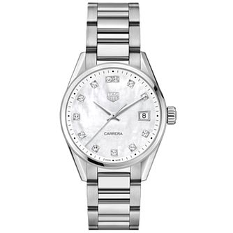 TAG Heuer Carrera Diamond Stainless Steel Bracelet Watch - Product number 2469480