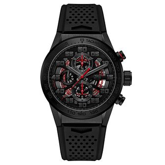 TAG Heuer Carrera Ltd Edition Men's Black Rubber Strap Watch - Product number 2469499