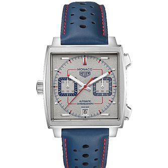 TAG Heuer Monaco Special Edition Blue Leather Strap Watch - Product number 2469537