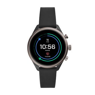 Fossil Sport Ladies' Black Silicone Strap Smartwatch - Product number 2471337
