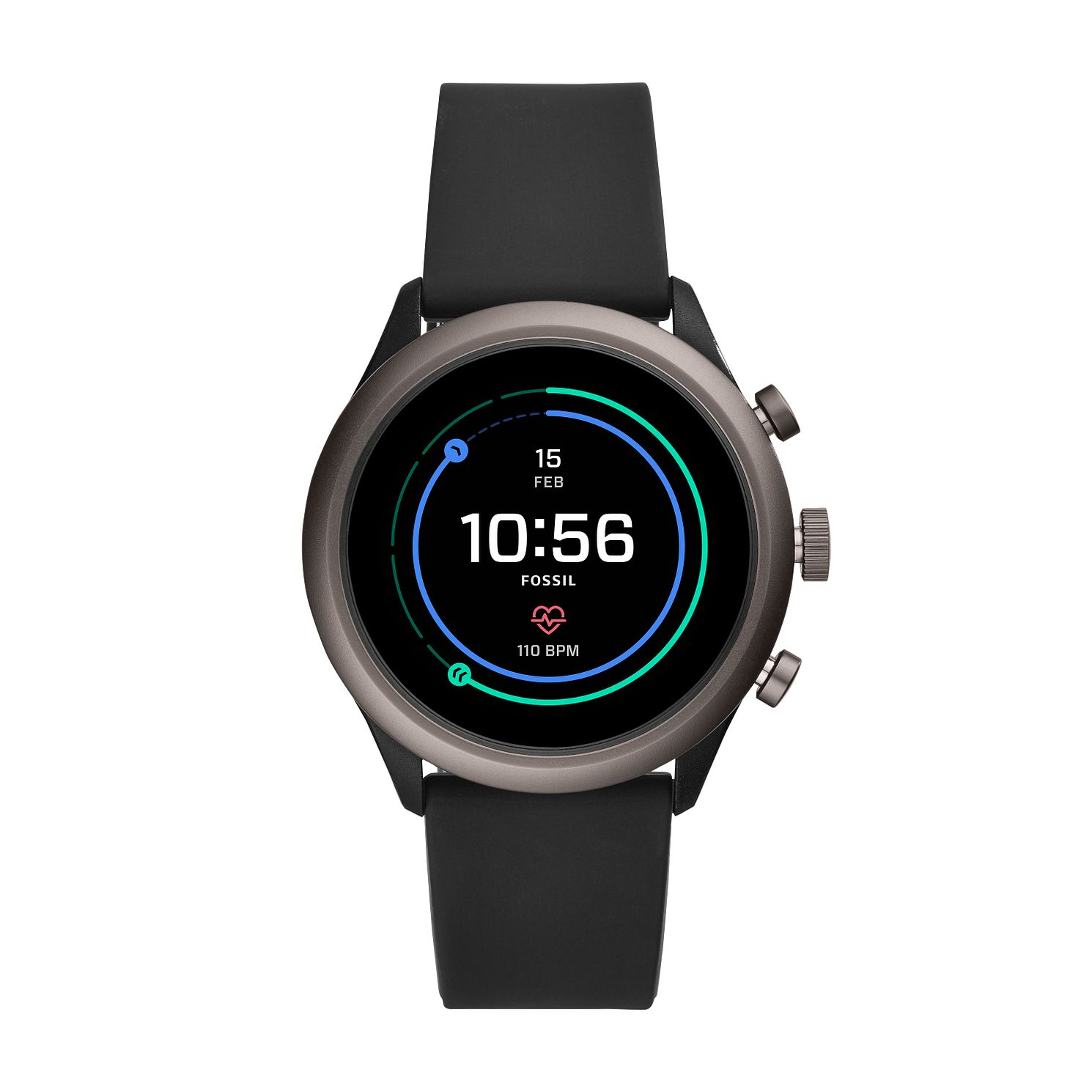Fossil Sport Men's Black Silicone Strap SmartWatch - Product number 2471345