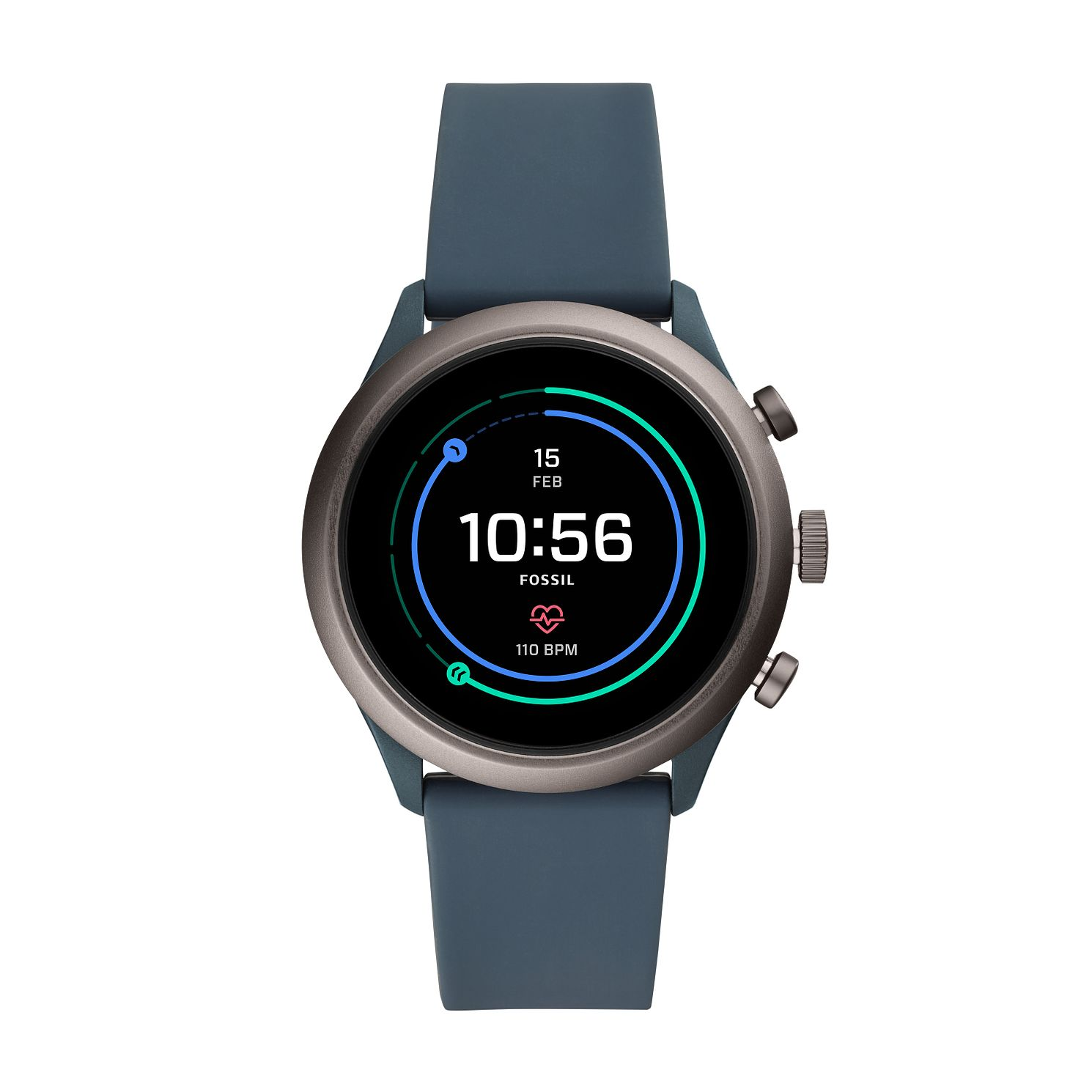 Fossil Sport Men's Blue Silicone Strap SmartWatch - Product number 2471353