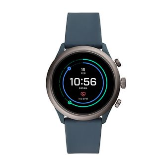 bda492c11d2 Fossil Sport Men's Blue Silicone Strap SmartWatch - Product number 2471353
