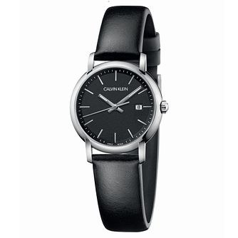 Calvin Klein Established Ladies' Black Leather Strap Watch - Product number 2471469