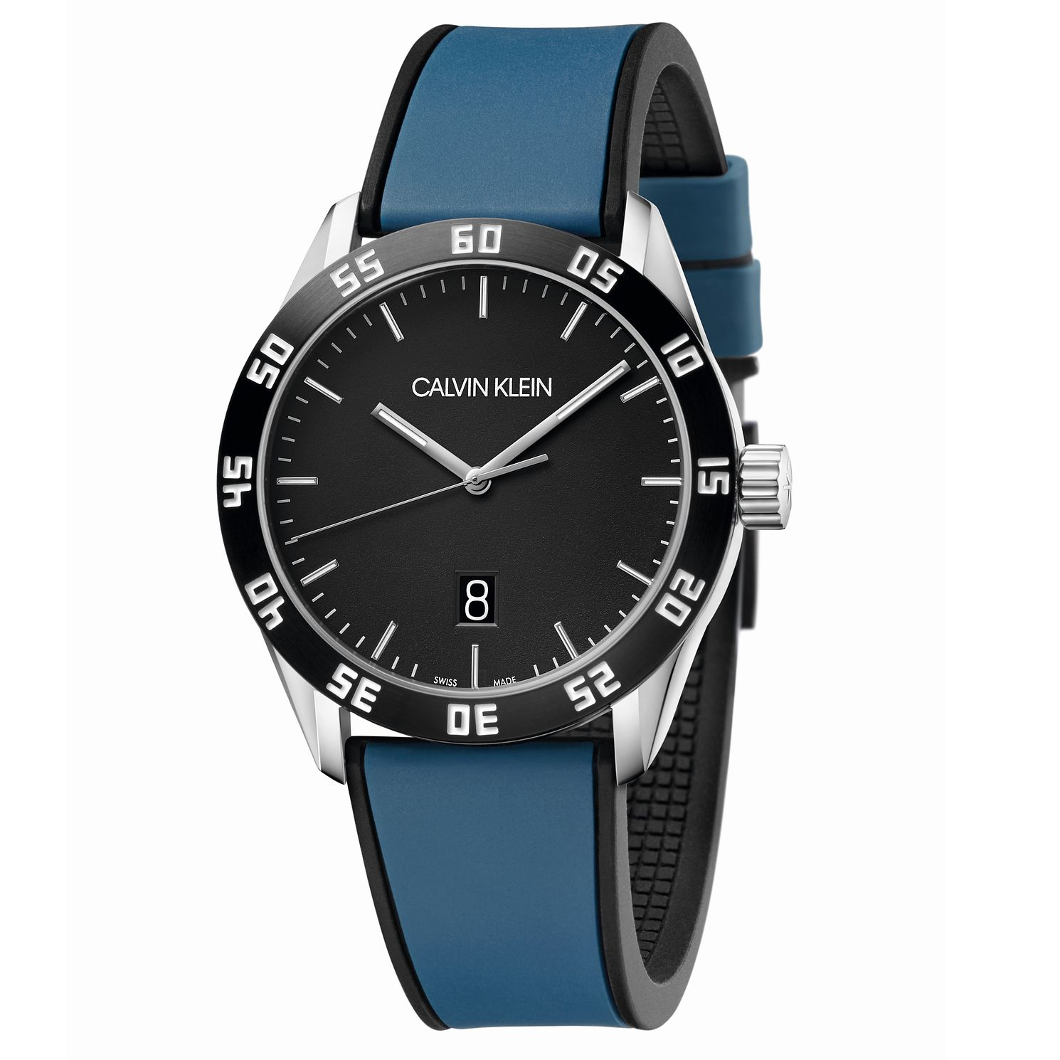Calvin Klein Men's Blue Silicone Strap Watch - Product number 2471515