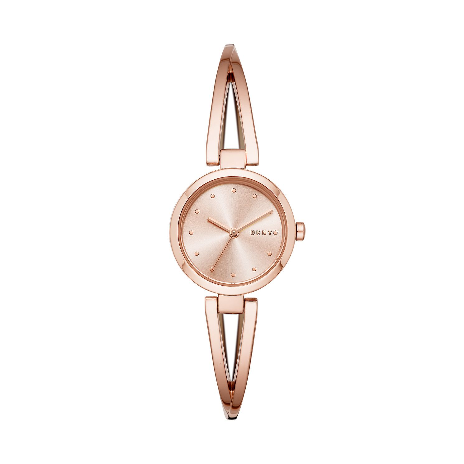 DKNY Crosswalk Ladies' Rose Gold Tone Bangle Watch - Product number 2471566