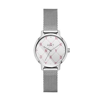 DKNY Modernist Ladies' Stainless Steel Mesh Bracelet Watch - Product number 2471574
