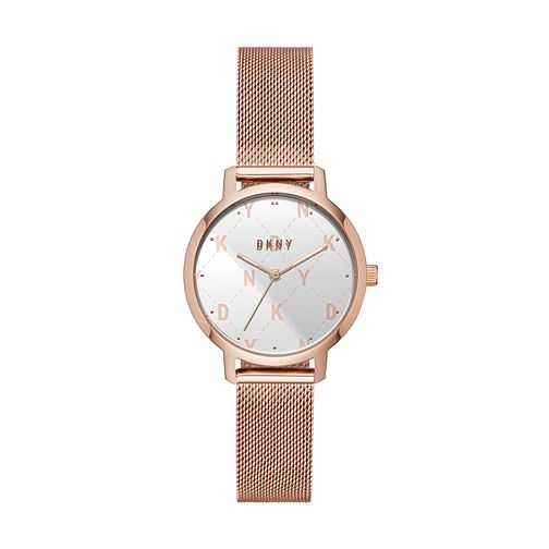 DKNY Modernist Ladies' Rose Gold Tone Mesh Bracelet Watch - Product number 2471582