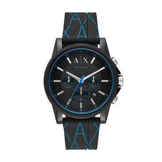 Armani Exchange Men's Black Silicone Strap Watch - Product number 2471655