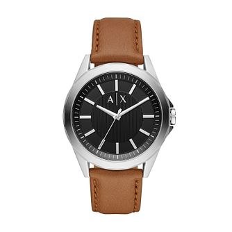 Armani Exchange Men's Brown Leather Strap Watch - Product number 2472422