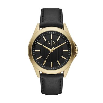 Armani Exchange Men's Black Leather Strap Watch - Product number 2472430