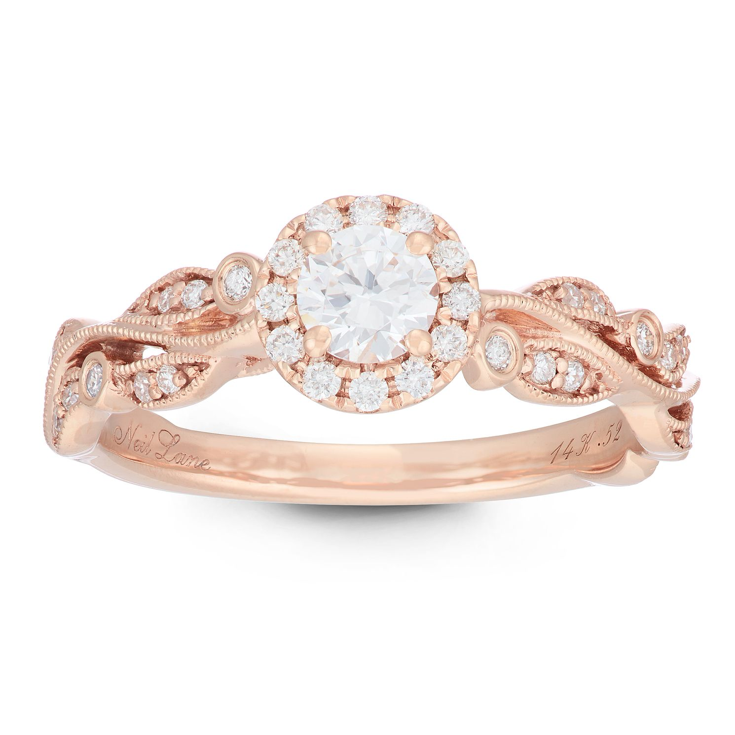 Neil Lane Designs 14ct Rose Gold 0.52ct Diamond Vine Ring - Product number 2486210