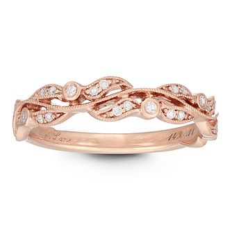 Neil Lane Designs 14ct Rose Gold 0.11ct Diamond Vine Ring - Product number 2486628