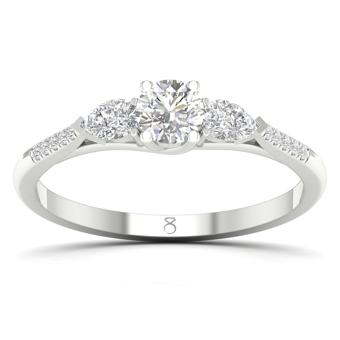 The Diamond Story 18ct White Gold 3/4ct Diamond Ring - Product number 2495945