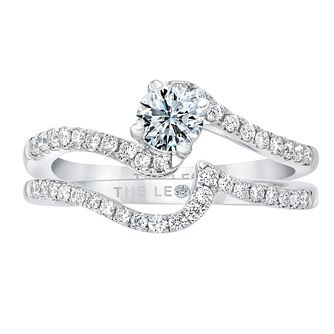 Leo Diamond 18ct White Gold 2/3ct Diamond Bridal Set - Product number 2521792