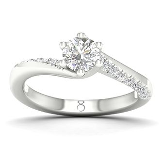 The Diamond Story 18ct White Gold 1/2ct Diamond Ring - Product number 2534606