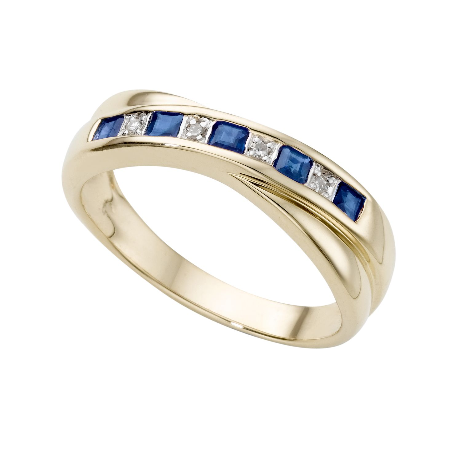 9ct Gold Sapphire & Diamond Ring - Product number 2538547